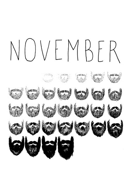 "Image of a November Beard ""Calendar"""