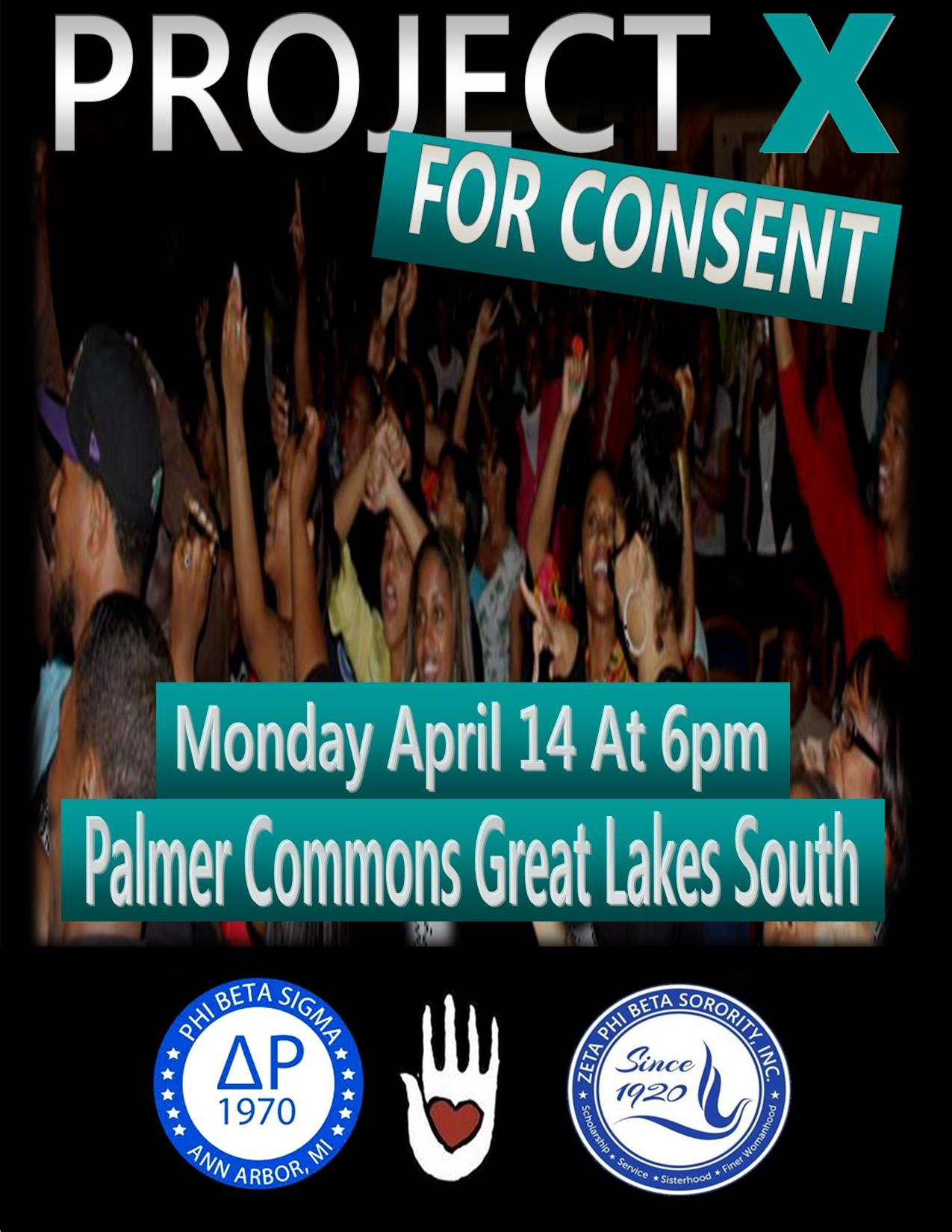 Men's Activism Project X for Consent Event Poster