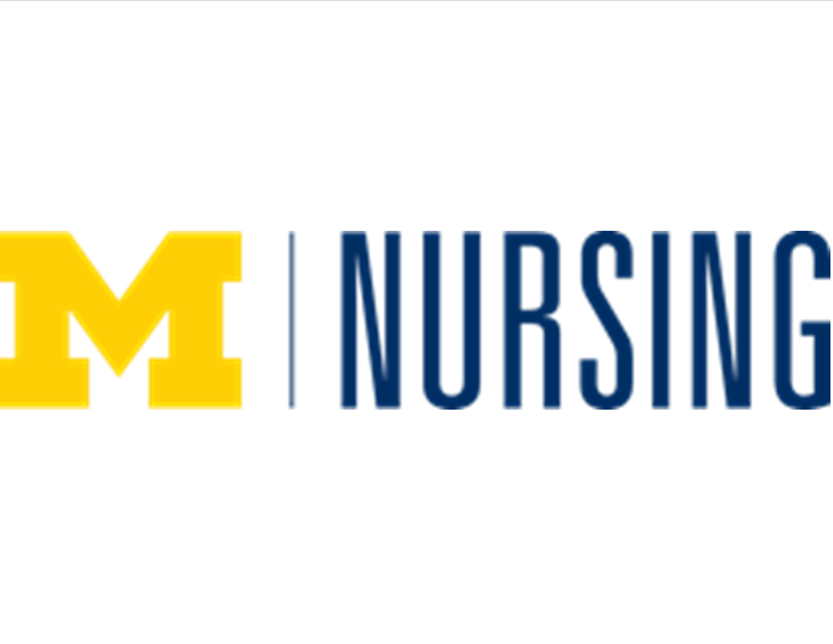Michigan Block M and Nursing School logo