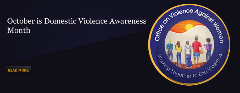 Office on Violence Against Women Domestic Violence Awareness Month Logo