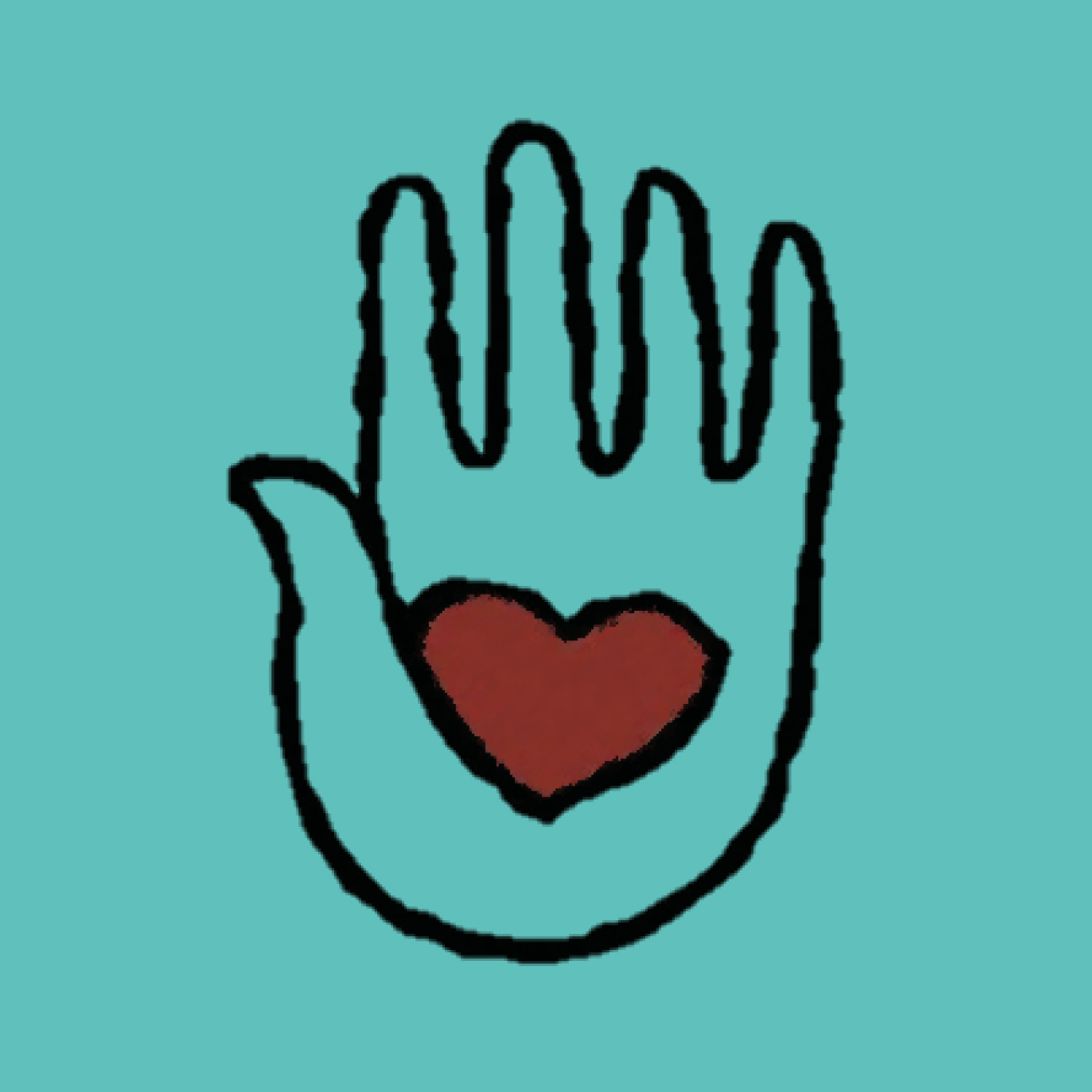SAPAC hand on teal background
