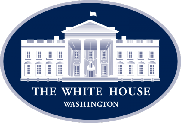 The white house in Washington DC logo
