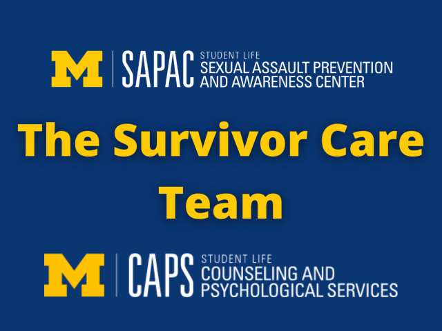 "SAPAC and CAPS logos with text that reads ""The Survivor Care Team"""