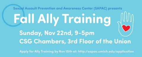 SAPAC Ally Training flyer