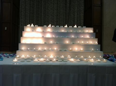 Picture of Candles at SAPAC's Speak Out