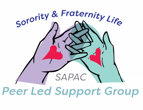 Sorority and Fraternity Life Peer Led Support Group logo