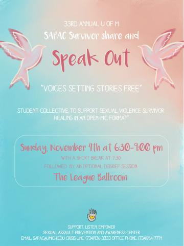 Speak Out Flier