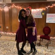 Co-Coordinators, Eve Hillman and Kayla McKinney, pose together before the event.