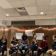 Student panel of 3 different couples discuss their relationships and how they communicate and view healthy relationships.