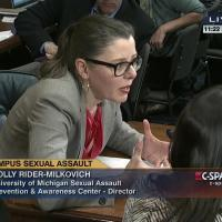 SAPAC Director Holly Rider-Milkovich speaking at the roundtable