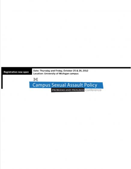 Campus Sexual Assault Policy Registration Poster